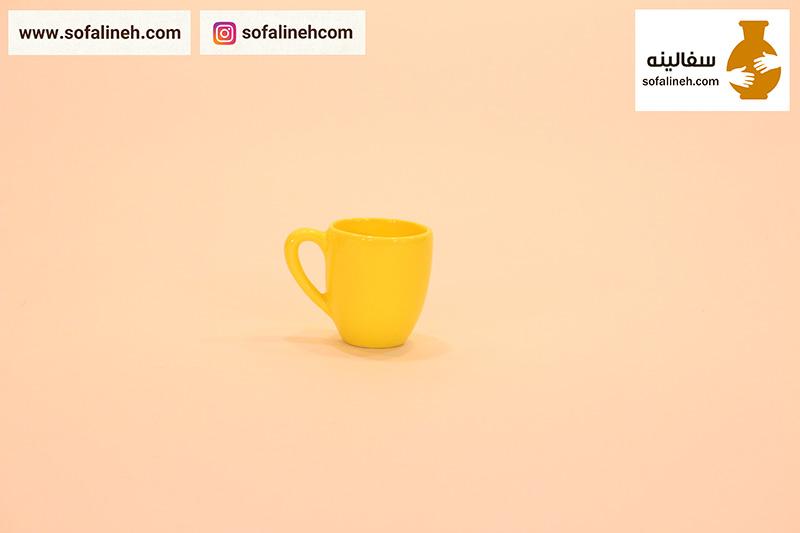 لیوان سرامیکی زرد