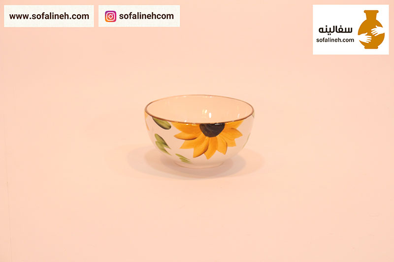 کاسه آبگوشتی گلدار زرد