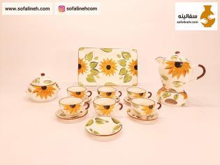 سرویس چایی خوری گل آفتابگردان زرد