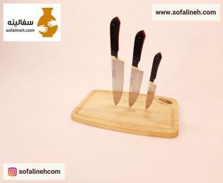 ست کامل چاقوی ناصر دسته سیاه