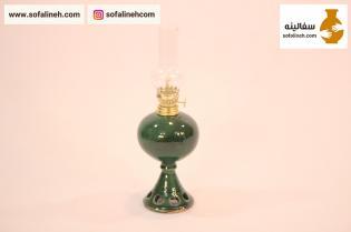 چراغ گردسوز سفالی سبز