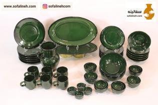 ست پلوخوری شش نفره سبز